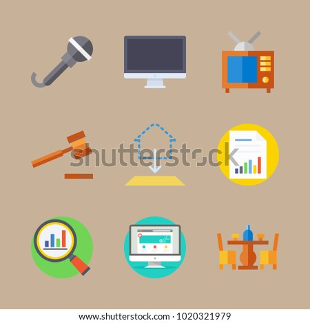 Icons real assets television medicine blueprint stock vector 2018 icons real assets with television medicine blueprint tv and antenna and analytics malvernweather Gallery