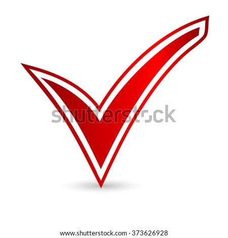 icons red vote. Elections. Vector illustration.  isolated on white background. ballot box. voting box. vote button. poll icon. red check mark - stock vector