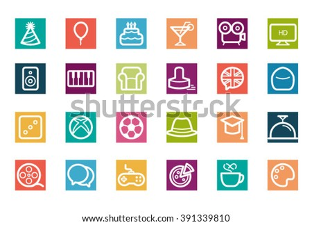 Icons set - stock vector