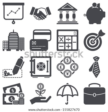 Icons set about finance concept - stock vector