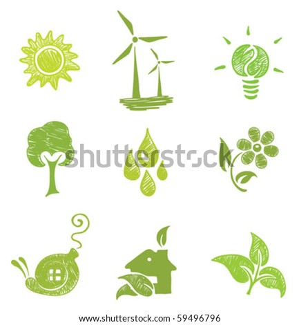 icons set - Ecology - stock vector
