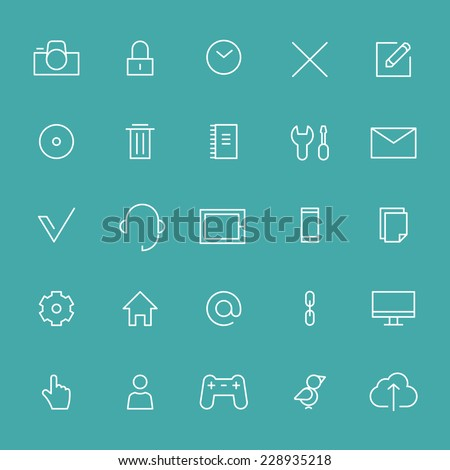 Icons set for web or app - stock vector