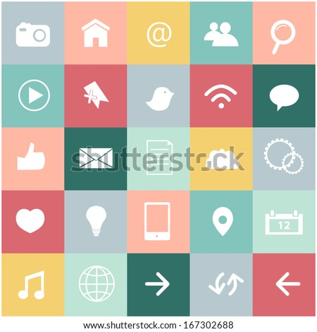icons set of various web user - stock vector