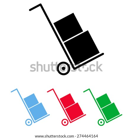 Icons set shipping and delivery - stock vector