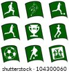 Icons set Soccer.  Football Soccer Symbol Sign - stock vector