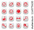 Icons set sports and games for web and mobile. - stock vector