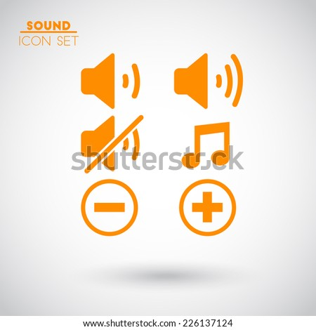 Icons sound - stock vector