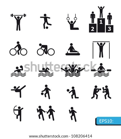 icons sports vector - stock vector