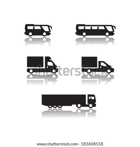 Icons. Vector format - stock vector