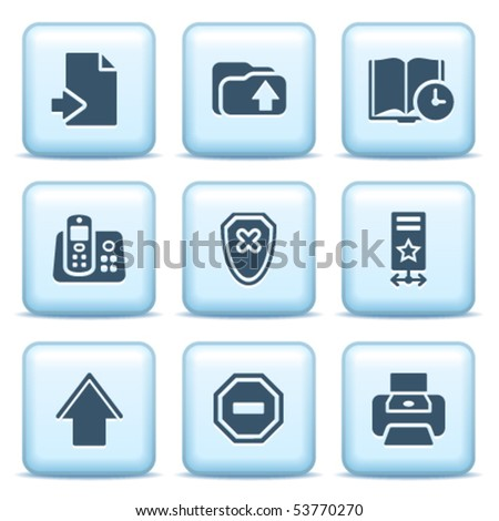 Icons with blue buttons 4