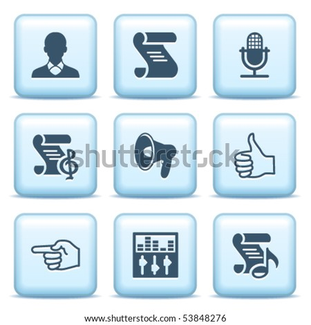 Icons with blue buttons 31