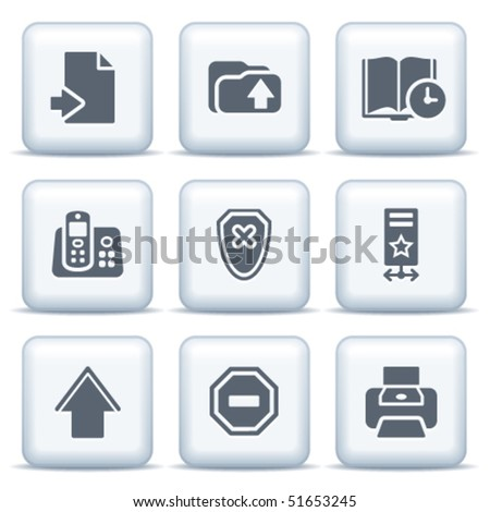 Icons with gray buttons 4