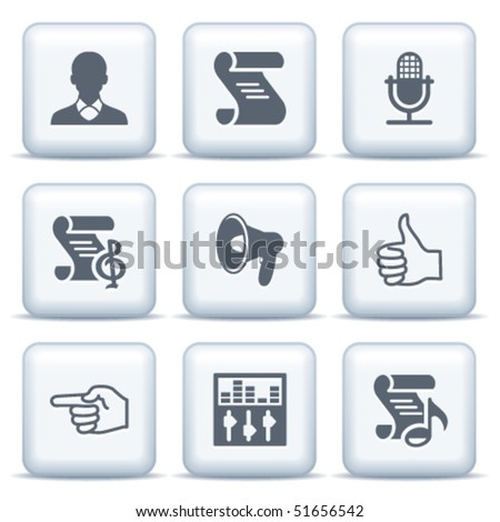 Icons with gray buttons 31