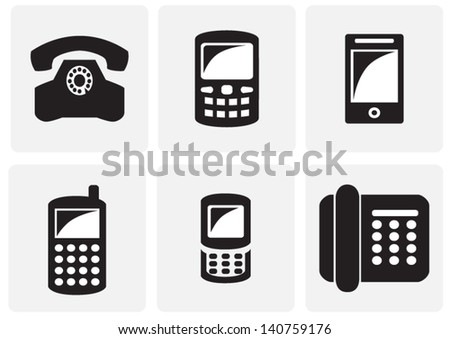 icons with phone