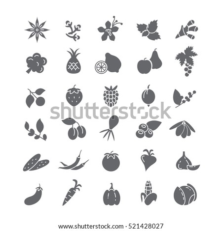 Icons with vegetables