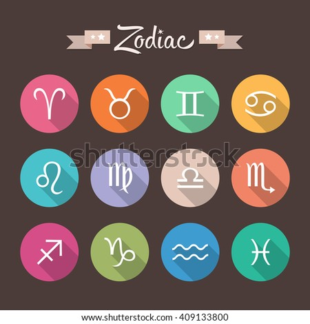 Icons. Zodiac signs. - stock vector