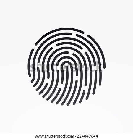 ID app icon. Fingerprint vector illustration - stock vector
