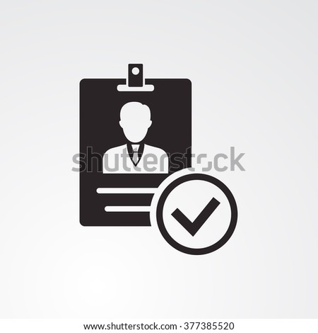 ID Card Icon Vector - stock vector