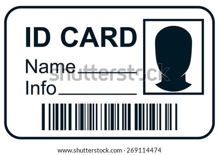ID card member pass - stock vector