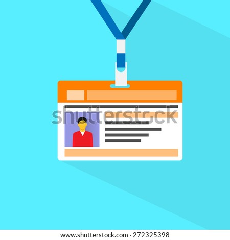 Id Card Profile Data Photo Flat Vector Illustration - stock vector