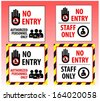 ID-CARD SHOW YOUR RED CROSS STOP AUTHORIZED PERSONNEL ONLY - stock photo