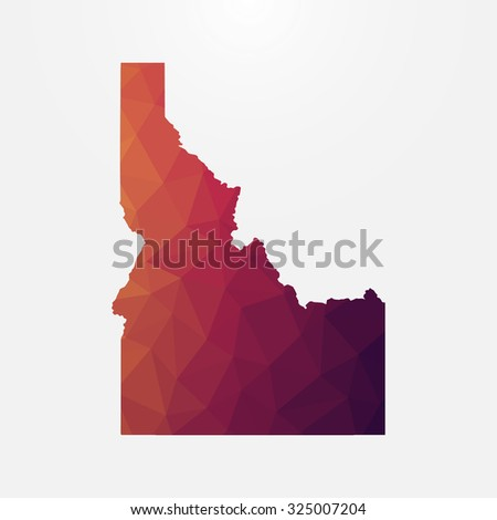 Idaho in geometric polygonal style.Abstract tessellation,modern design background. Vector illustration EPS10 - stock vector