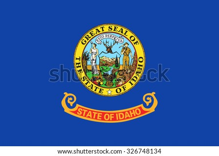 Idaho state flag - stock vector