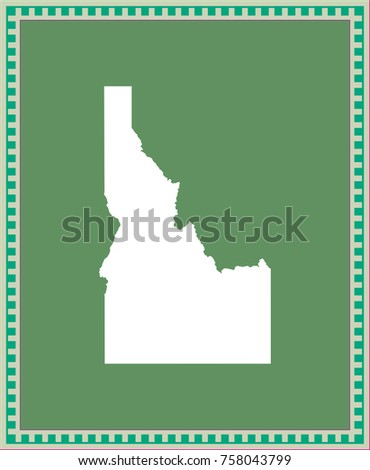 Idaho State USA Map Vector Outline Stock Vector 758043799 - Shutterstock