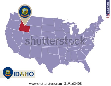 Washington State On Usa Map Washington Stock Vector - Washington on us map