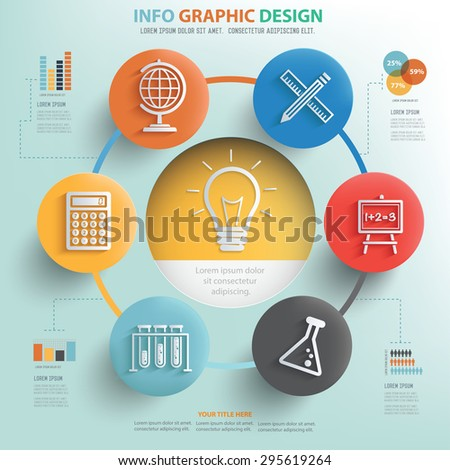 idea and education info graphic design business concept design