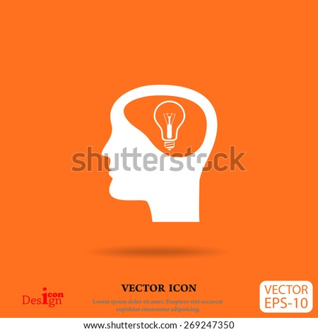 idea and man vector icon - stock vector