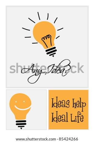 Idea bulb - stock vector