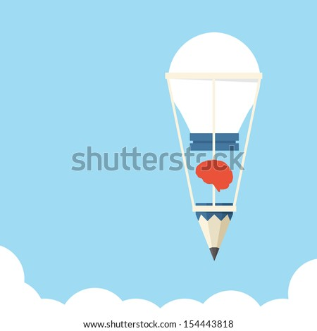 Idea bulb balloon design, vector - stock vector
