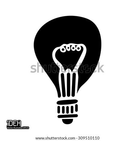 idea bulb icon  - stock vector
