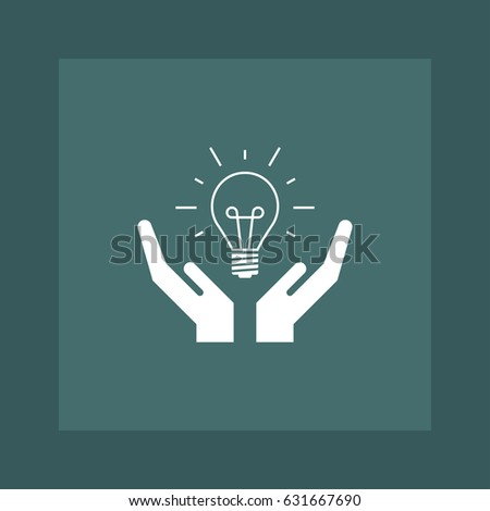 Idea bulb icon simple on hand vector illustration