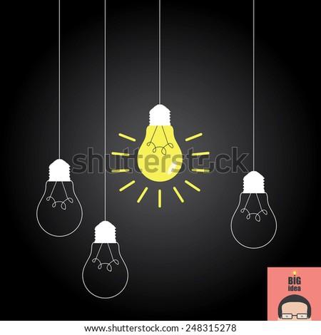 Idea concept creative - stock vector