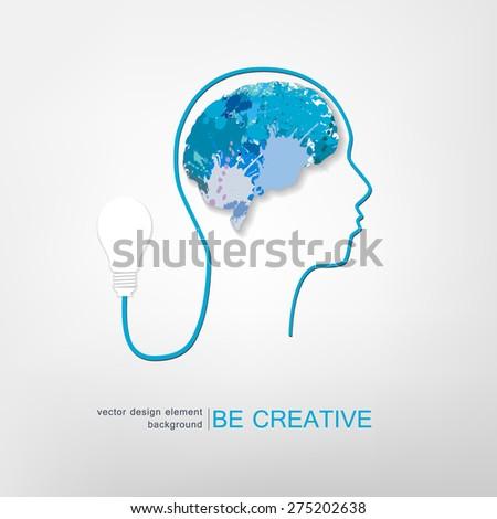 idea concept creative, vector illustration - stock vector