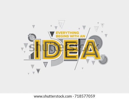 Idea Concept In Modern Typography Design Creative For Wall Graphics Typographic Poster