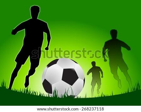 idea concept on soccer game, vector - stock vector