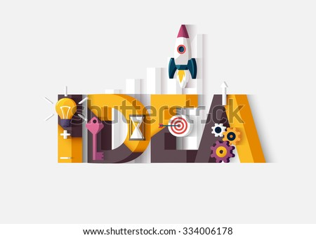 Idea concept. Typographic poster. - stock vector