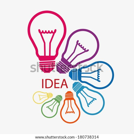 IDEA CONCEPT WITH BULB ICONS - stock vector