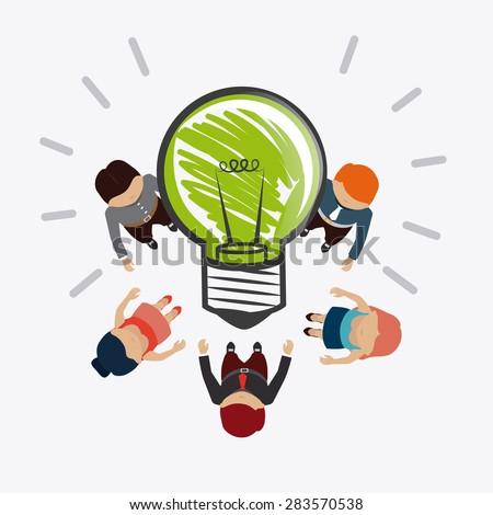 idea design over white background vector illustration stock vector idea design idea design - Idea Design