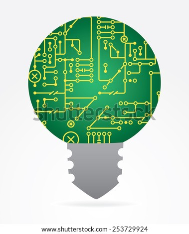 idea for computer generation, programming mind and Artificial Intelligence - stock vector