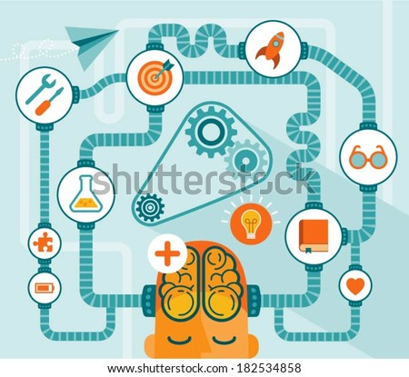 idea generator, modern vector illustration - stock vector