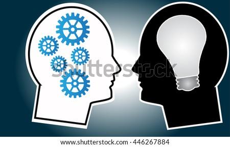 Idea head concept vector design - stock vector