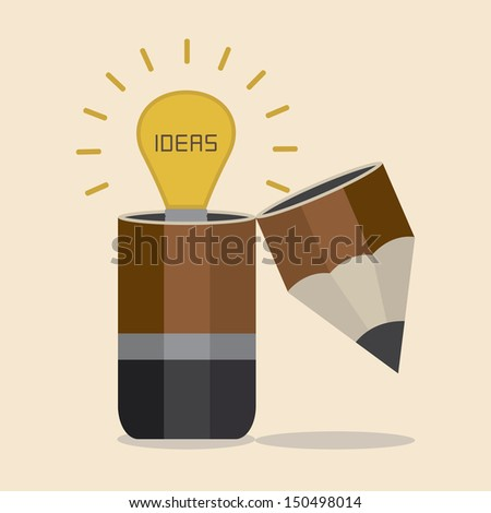 Idea inside Pencil - stock vector