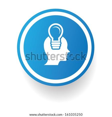 Idea,Light bulb symbol,vector - stock vector