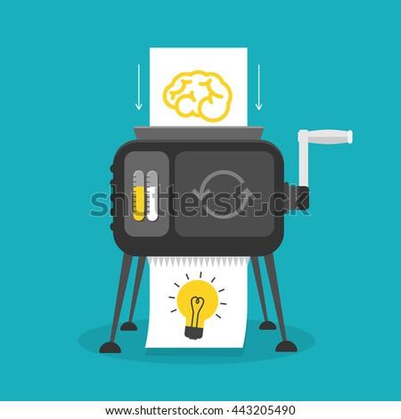 Idea machine - stock vector