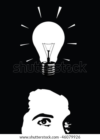 idea man vector - stock vector