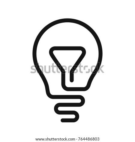 Idea Symbol Light Bulb Icon One Stock Vector Royalty Free